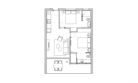 apartament dues habitacions