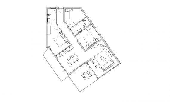 apartament tres habitacions